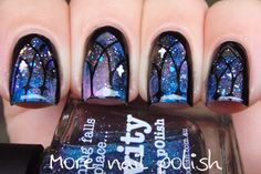 piCture pOlish shades feature in this 'window to universe' mani art by More Nail Polish! Shop on-line now: www.picturepolish.com.au
