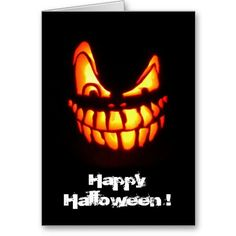 halloween face teeth card