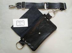 Items similar to Zippered Black Leather Belt Bag on Etsy Black Fanny Pack, Leather Fanny Pack, Leather Bag, Soft Leather, Leather Gifts, Leather Craft, Side Purses, Minimalist Bag, Diy Purse