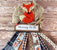 Fox Corsage Mommy To Be Corsage Woodland Fox by BloomingParty, $16.00