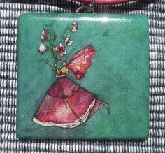Unique Handmade Resin Pendant