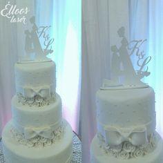 Topo de bolo noivinhos em mdf. Fica lindo em seu bolo de casamento!