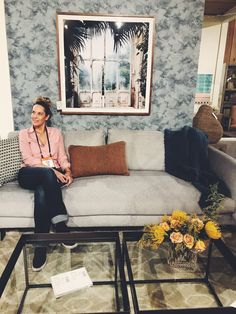 In my happy place: Four Hands Furniture Showroom at Las Vegas Market