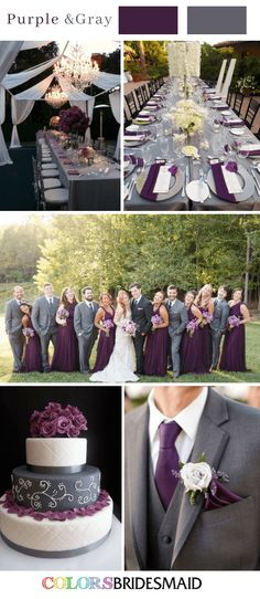 Herbsthochzeitsfarben mit lila Hochzeit Farbschemata (lila und grau …-… Fall wedding colors with purple wedding color schemes (purple and gray …) # Fall Wedding Colors with Purple Wedd Fall Wedding Flowers, Fall Wedding Decorations, Fall Wedding Colors, Wedding Ideas Purple, Purple Summer Wedding, Wedding Bouquets, Purple Bouquets, Fall Wedding Themes, Wedding Trends