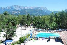 Camping met zwembad in de Drôme : La Pinède
