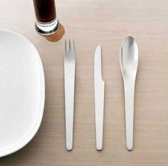 super designery, but are they usable?  Danish design cutlery