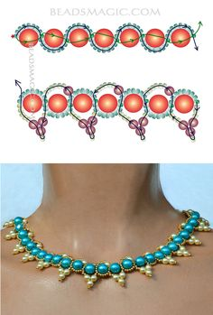 Free pattern for necklace Paloma | Beads Magic