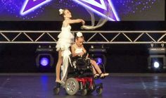 Two sisters in wheelchairs win a national dance competition