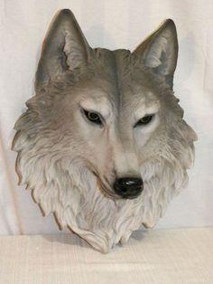 wolf head sculptures - Google Search