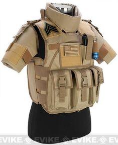 Matrix S.D.E.U. Ultra Light Weight Airsoft Tactical Vest - (Tan), Tac. Gear/Apparel, Body Armor & Vests, Tan / Desert - Evike.com Airsoft Superstore