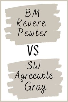 Sherwin Williams Agreeable Gray (Why It's So Popular) Taupe Paint Colors, Warm Gray Paint, Farmhouse Paint Colors, Interior Paint Colors, Wall Colors, House Colors, Sherwin Williams Revere Pewter, Sherwin Williams Dover White, Sherwin Williams Agreeable Gray