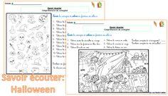 Savoir écouter: Halloween... et lecture de consignes - dys é moi Zazou et Madel