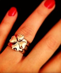 Four Leaf Clover Stacking Rings