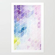 watercolor pattern Art Print by myfirstpalette Abstract Watercolor Art, Watercolor Drawing, Watercolor Pattern, Watercolor Paintings, Watercolors, Watercolor Tutorials, Geometric Drawing, Geometric Painting, Geometric Art