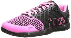 Reebok Women's Crossfit Nano 4.0 Training Shoe, Black/Electro Pink, 9 M US - https://twitter.com/TeenMyxer/status/556016785665703937 -  Product Details Performance, durability and comfort are packed into the latest evolution of the Nano training shoe. DuraCage technology delivers an indestructible, yet lightweight upper while RopePro protection wrap gives bite and support for rope climbs. Shock absorption in the forefoot and
