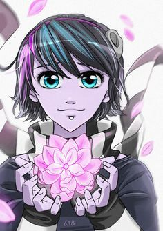 Zoe Silent Scream - Anna blue by ohfifteen on DeviantArt Anime Oc, Anime Neko, Blue Drawings, Art Drawings, Anna Blue, Emo Love, Animation, Anime Girl Cute, Drawing Base