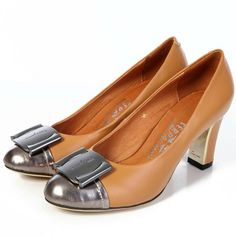 7415fa06467cc Pump in Brown and Silver Womens Salvatore Ferragamo Online Shopping Shoes,  Shopping Websites, Salvatore