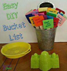 Easy DIY Bucket List