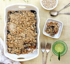 Healthy Baked Peanut Butter & Jelly Oatmeal