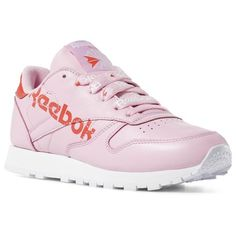 pre order 58190 85711 Reebok Shoes Women s Classic Leather in Charming Pink Red White Size 5 -  Retro