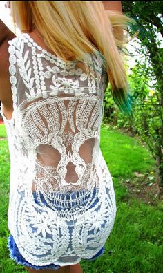 Adorable boho skull lace dress | Fashion And Style