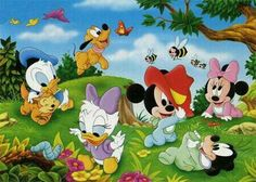 Playing in the Garden parça, maxi) Clementoni Çocuk TL TL havale indirimi) Mickey Minnie Mouse, Disney Mickey, Disney Coloring Pages, 90s Cartoons, Disney And Dreamworks, Baby Disney, Looney Tunes, Pikachu, Animation