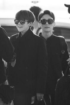 141017 Baekhyun and Chen | Incheon Airport