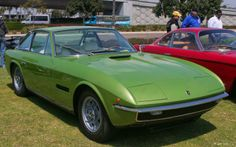 Mobil Sport 1969 Lamborghini Islero Green Front Side View