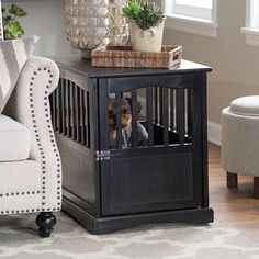 Newest Photos Pet Crate End Table Dog Cage Kennel Furniture Bed Wood Indoor Larg. Newest Photos Pet Crate End Table Dog Cage Kennel Furniture Bed Wood Indoor Large Medium Cat Popul Wooden Dog Crate, Cat Crate, Crate Bed, Diy Dog Crate, Wood Crates, Wooden Cat, Wood Dog, Double Dog Crate, Dog Crate End Table