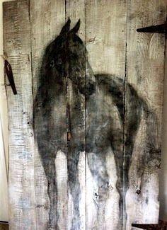 Horse On Barn Door