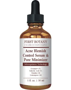 First Botany Cosmeceuticals Acne Blemish Control Serum and Pore Minimizer 1 fl. oz - Best Acne Treatment and Anti Acne Serum, Visibly Reduces Blemishes and Pore Reducer -- Unbelievable  item right here! : Face treatments and masks