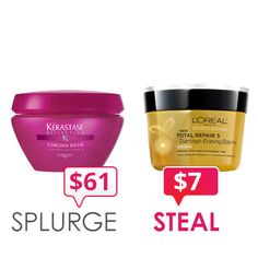 Kerastase conditioning mask dupe from L'Oreal (who just happens to own Kerastase, go figure)!