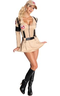 Bust those ghosts with our Female Ghostbusters Costume, a stunning addition to our Ghostbusters fancy dress collection! This outfit features a dress instead of the traditional jumpsuit, giving a sexy makeover to an ever-popular costume choice. Costume Ghostbusters, Ghostbusters Fancy Dress, Ghostbusters Movie, Movie Halloween Costumes, Halloween Fancy Dress, Halloween Kostüm, Halloween Outfits, Party Costumes, Costumes
