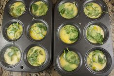 """Making eggs in muffin pans - this would make a """"breakfast"""" meal for large numbers, very do-able, especially since the eggs are scrambled.  Infinite variations."""