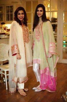Pakistani Suit- Gotta Work Net Kurta with Cigarette Pants…