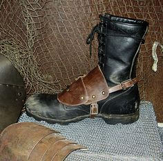 Leather Wastland Boot Guard by DirtyandDistressed.deviantart.com on @deviantART