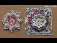 CROCHET How to crochet Flower Granny Square Tutorial for baby blanket - YouTube