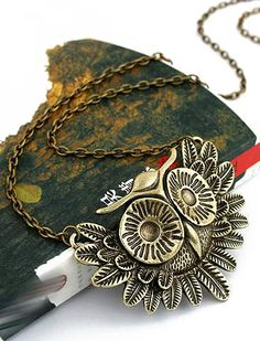 Retro Gold Owl Necklace