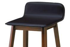 木製再生皮革貼り ハイチェア(ライトブラウン/ホワイトウォッシュ/モカブラウン)|CC-201-B(レスモークチェア) 桜屋工業 HOMEDAY|家具通販eインテリア