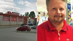 Ica-butiken angrips av gäng – kunder vaktar.
