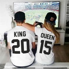 King and Queen shirts couple t shirt couple tees King Queen 01 couple tshirts funny matching couple shirts wedding gift anniversary gift Couples Assortis, Cute Couples Goals, Soccer Couples, Funny Couples, T-shirt Couple, Couple Goals, Couple Pics, Matching Couple Outfits, Matching Couples