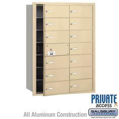Replacement USPS commercial mailboxes are available from the industry leader in commercial and residential mailboxes. Salsbury offers factory direct prices on horizontal mailboxes. Security Mailbox, Safety And Security, Commercial Mailboxes, Residential Mailboxes, Home Safety, New Construction, Locker Storage, The Unit, Doors