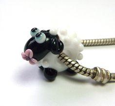 SCHAF Lampwork Glasperle *Pastell-Beads* SRA - ♥Tierische Sammelperlen♥ von Pastell-Beads - Lampwork-Beads - Glasschmuck - DaWanda