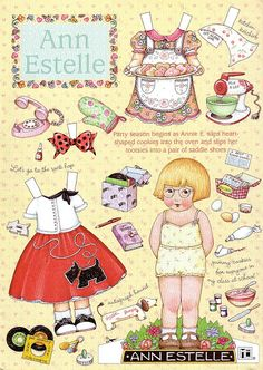 Ann Estelle Sock Hop* 1500 free paper dolls at Arielle Gabriel's The International Paper Doll Society free paper dolls for my Pinterest friends..*