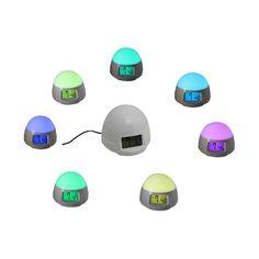 Creative LED Colorful Alarm Clock Light Bedside Lamp #BedsideLamp