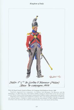 Kingdom of Italy: Plate 44: Royal Guard, Guards of Honour, 1st Company, Field Uniform, Private, 1809
