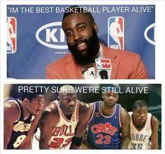 James Harden #basketballquotes Funny Nba Memes, Funny Basketball Memes, Basketball Is Life, Nfl Memes, Basketball Quotes, Football Memes, Really Funny Memes, Basketball Players, Basketball Stuff
