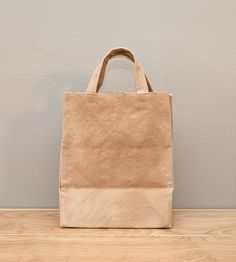 Brown Canvas Tote Bag with Handles
