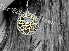 Boucles d'oreilles romantique 1000 Coeurs or métallique