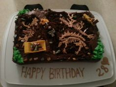 My dinosaur bones cake